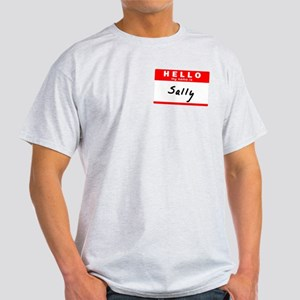 Sally, Name Tag Sticker T-Shirt