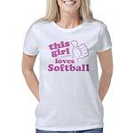 This Girl Loves Softball Women's Classic T-Shirt