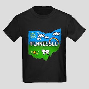 Tennessee, Ohio. Kid Themed Kids Dark T-Shirt