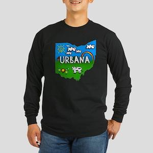 Urbana, Ohio. Kid Themed Long Sleeve Dark T-Shirt