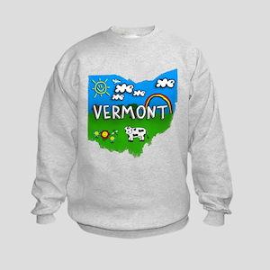 Vermont, Ohio. Kid Themed Kids Sweatshirt