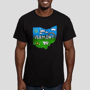 Vermont, Ohio. Kid Themed Men's Fitted T-Shirt (da