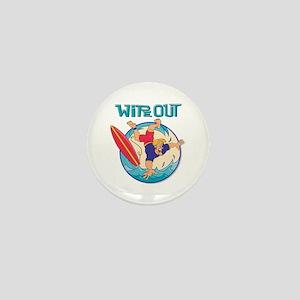 Wipe Out Mini Button