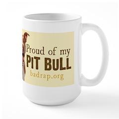Proud of My Pit Bull Large Mug