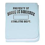 Property of Dogue de Bordeaux baby blanket