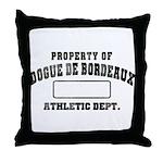 Property of Dogue de Bordeaux Throw Pillow