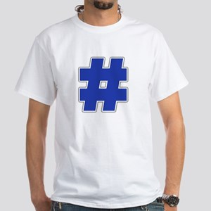 """""""Number"""" White T-shirt"""