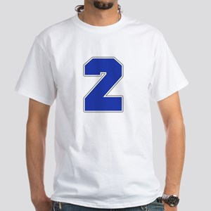 """""""Number 2"""" White T-shirt"""