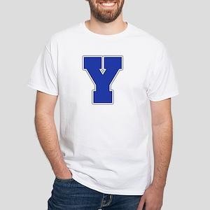 """Letter Y"" White T-shirt"