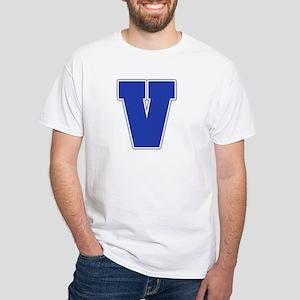 """""""Letter V"""" White T-shirt"""