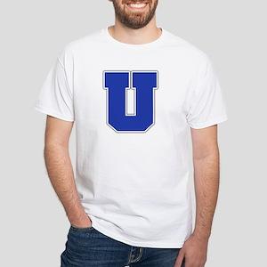 """""""Letter U"""" White T-shirt"""