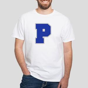 """""""Letter P"""" White T-shirt"""
