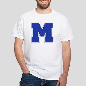 """""""Letter M"""" White T-shirt"""