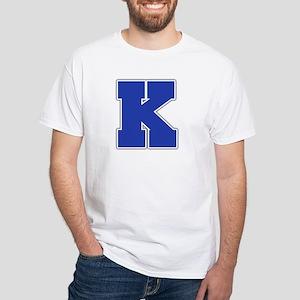 """""""Letter K"""" White T-shirt"""