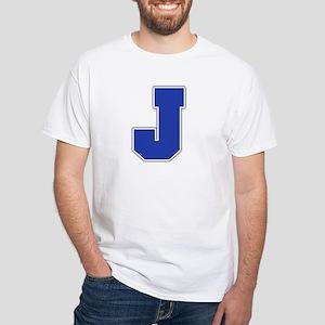 """""""Letter J"""" White T-shirt"""