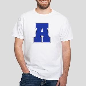 """Letter A"" White T-shirt"