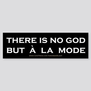 """""""There Is No God"""" Sticker (Bumper)"""