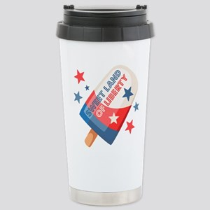 Ice Cream Pop 4th 16 oz Stainless Steel Travel Mug