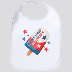 Ice Cream Pop 4th Cotton Baby Bib