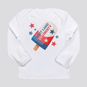Ice Cream Pop 4th Long Sleeve Infant T-Shirt