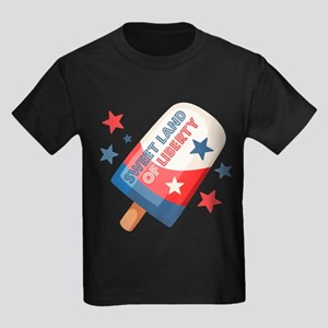 Ice Cream Pop 4th Kids Dark T-Shirt
