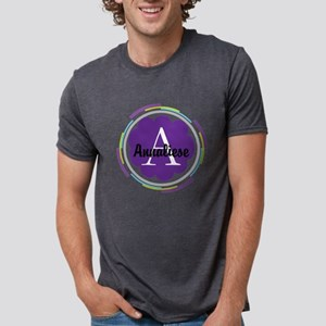 Personalized Name Monogram Gift Mens Tri-blend T-S
