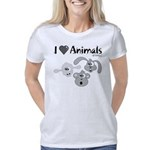 i-love-animals-grey-01 Women's Classic T-Shirt