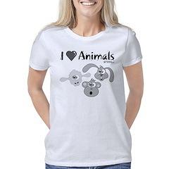 i-love-animals-grey-01 Women's Classic T-Shirt