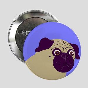 Blue Pug Button