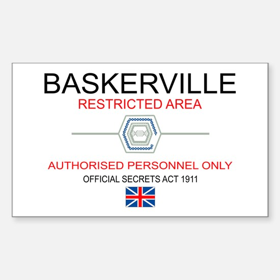 Hounds of Baskerville Sticker (Rectangle)