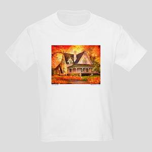 'The Leaf Pile' Kids Light T-Shirt