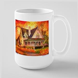'The Leaf Pile' Large Mug