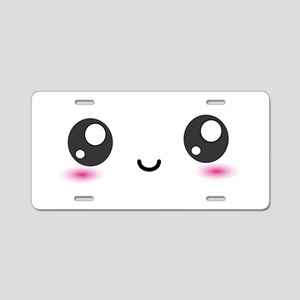 Japanese Anime Smiley Aluminum License Plate