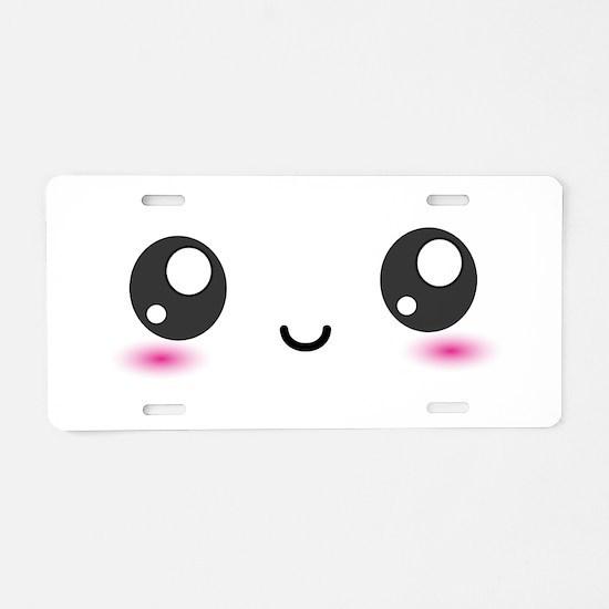 Japanese Anime Smiley Aluminum License Plate