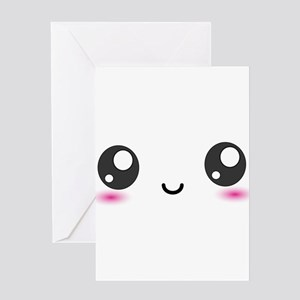 Japanese Anime Smiley Greeting Card
