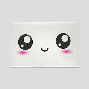 Japanese Anime Smiley Rectangle Magnet