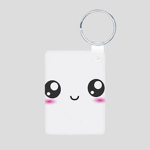 Japanese Anime Smiley Aluminum Photo Keychain