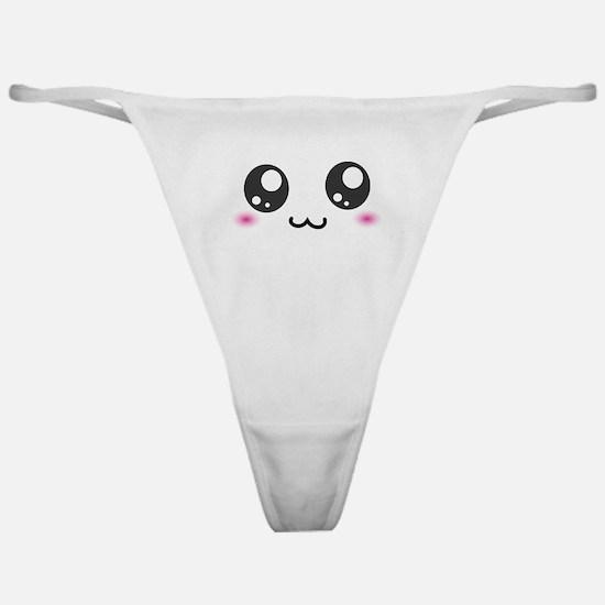 Japanese Emoticon Emoji Smile Classic Thong