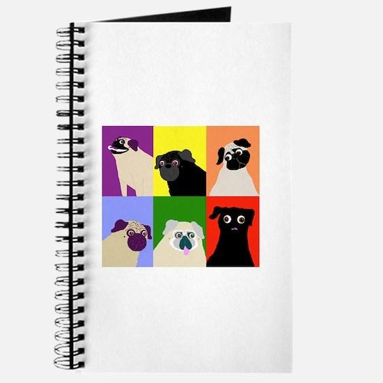 Rainbow Pugs Logo Journal