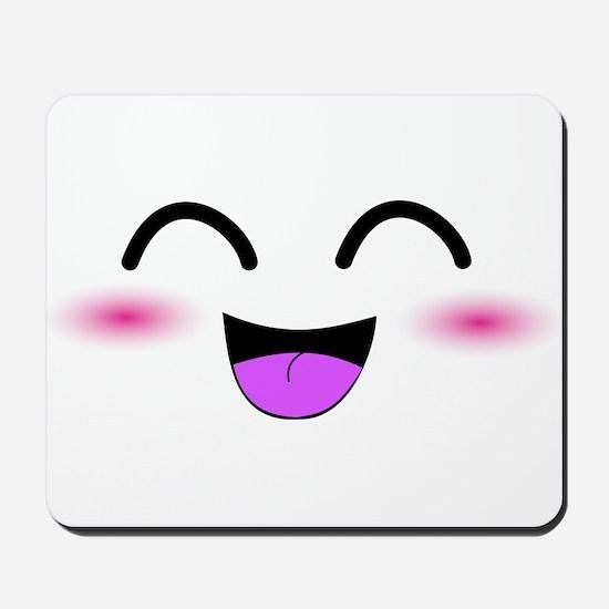 Laughing Kawaii Smiley Mousepad