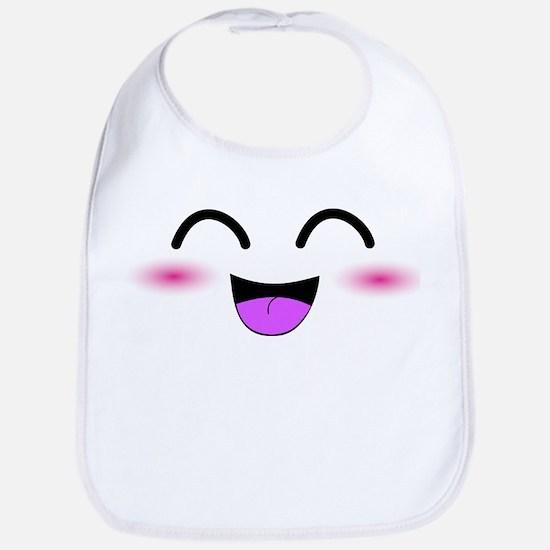Laughing Kawaii Smiley Bib