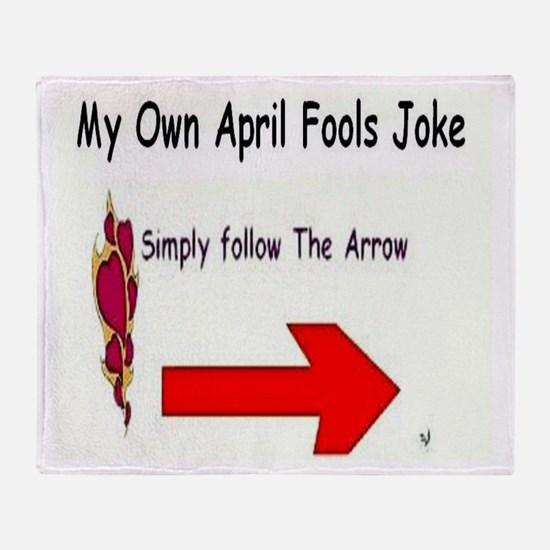 April Fools Joke Throw Blanket