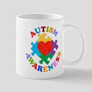 Autism Awareness Heart Mug