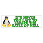 Escape the gates of hell - Sticker (Bumper)