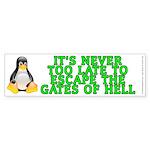 Escape the gates of hell - Sticker (Bumper)