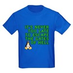Escape the gates of hell - Kids Dark T-Shirt