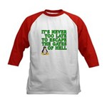 Escape the gates of hell - Kids Baseball Jersey