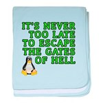 Escape the gates of hell - baby blanket