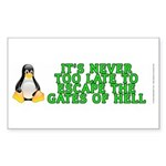 Escape the gates of hell - Sticker (Rectangle)