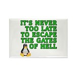 Escape the gates of hell - Rectangle Magnet (10 pa